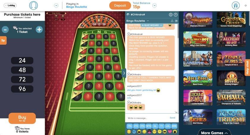 52 Ball Bingo Roulette Game - Uk-Bingo.net